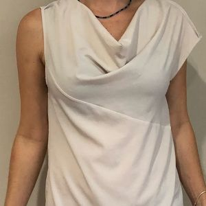 Cynthia Rowley cream/off white mesh silk top SMall